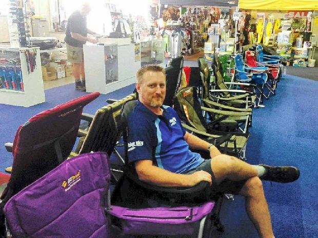 SITTING PRETTY: Wade Kent from Blue Sky Outdoor Experts in Ballina has taken his business online.