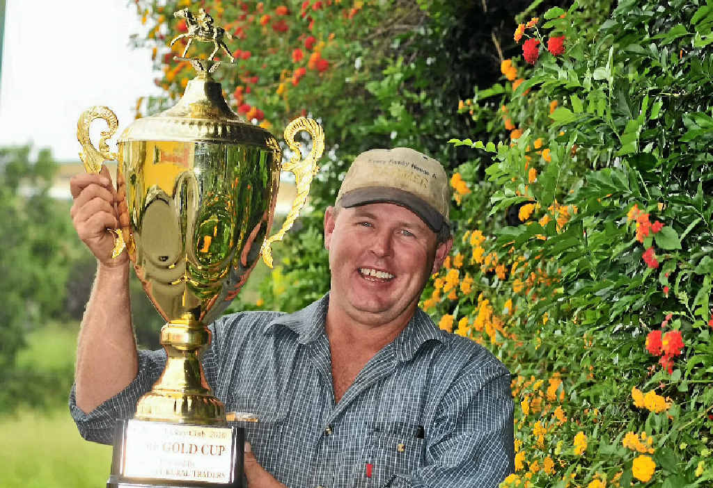 Calliope Jockey Club is hosting its annual Calliope Cup Race Day on Boxing Day. Leo Neill-Ballantine shows off the silverware.