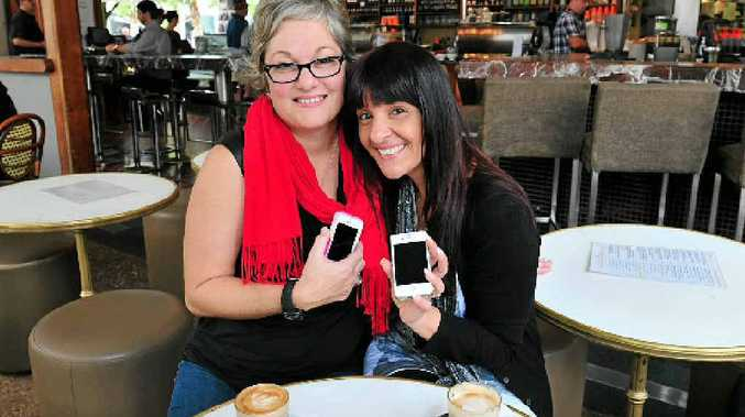 FRIENDS REUNITED: Katerina Adey (left) and Dina Janssen and their Instagram connection after more than 20 years apart.