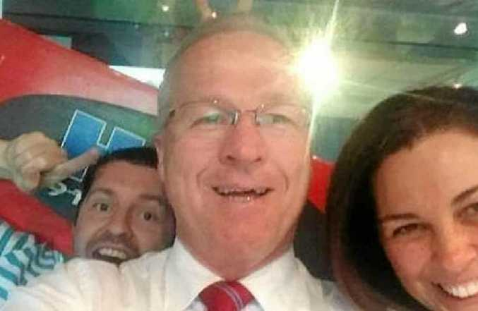 """The Mayor and his """"selfie'."""