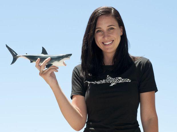 Researcher Sarah Richmond hosts the new TV series Sarah Shark.