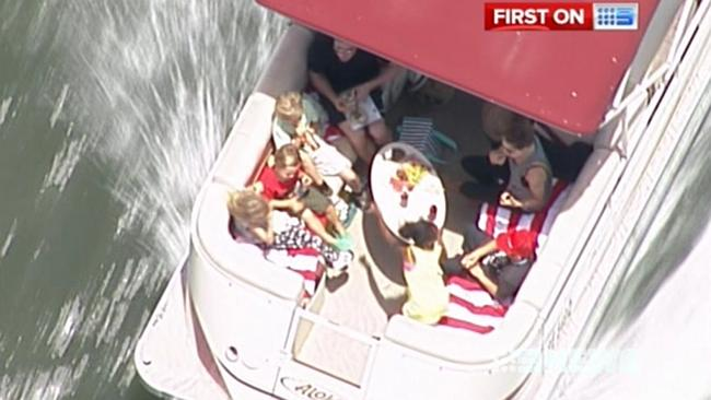 Brad Pitt and Angelina Jolie and their children enjoy a day out on the Gold Coast. Image: Channel 9