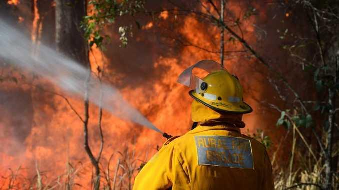 The Rural Fire Service fights a 2013 bushfire in Bauple.