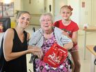 Gladstone residents Rebecca Landry and Maiella, 9, with Elma Cole at the Blue Care Edenvale.