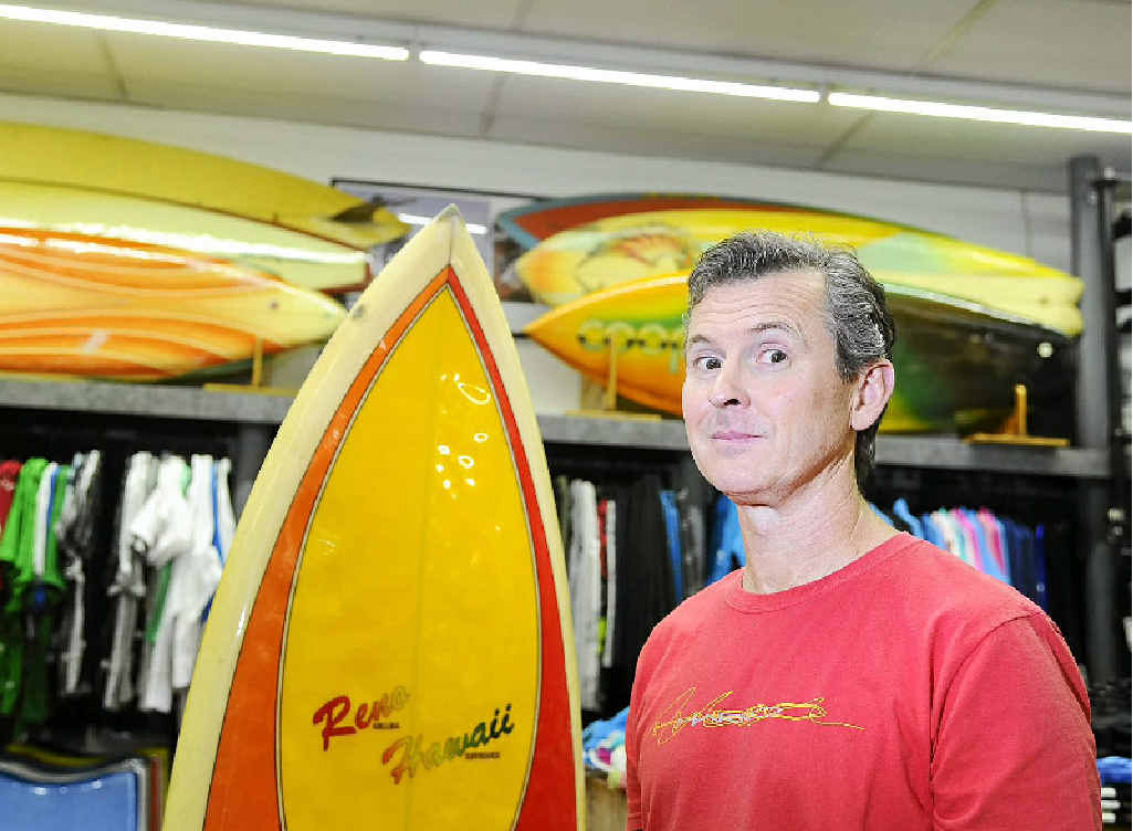 SALE READY: Noel Smith of Low Pressure Surf Co will be prepared for today's expected onslaught of bargain hunters. Photo: JoJo Newby