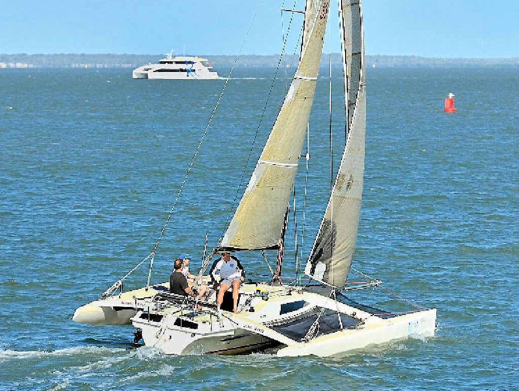 The Farrier 27 under sail.