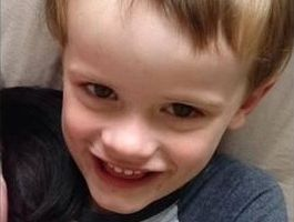 An image of the four-year-old boy who has disappeared from his parents' home on Chatsworth Island.