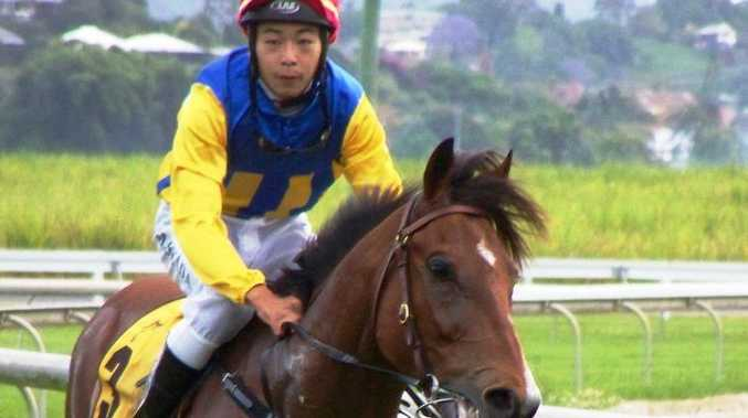 Argentine import Storm Fabulador wins at Murwillumbah on Melbourne Cup day 2011 with Japanese apprentice Motoki Okada on board.
