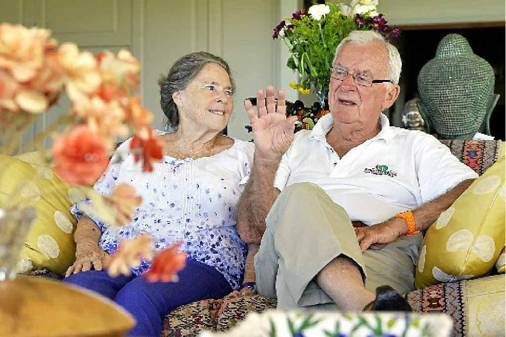 QUIETER LIFE: Bill Hayden with his wife Dallas at their home near Ipswich. Hayden was the 21st Governor-General of Australia from 1989 to 1996.