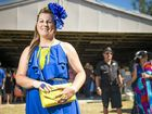 Women's Fashions on the Field winner Lynette Hall made a bold statement in blue.