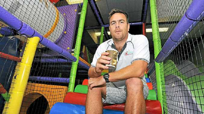 NO KIDS' PLAY: Perry Elliott, from Skidaddle indoor play centre in Caloundra, has closed the business due to health issues with co-owner, his sister Nicole Parrott, but will continue serving coffee from part of the building.
