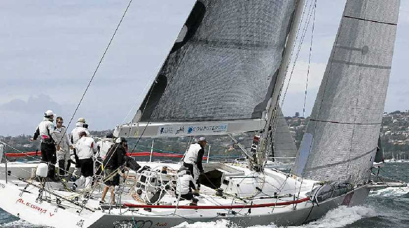 BUSTED HOPES: Audi Sunshine Coast was forced out of the Sydney-to-Hobart by gear failure.