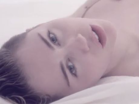 Miley Cyrus in her new Adore You video.