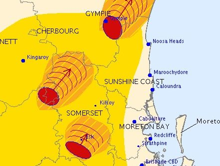 A severe thunderstorm warning has been issued for parts of the Sunshine Coast.