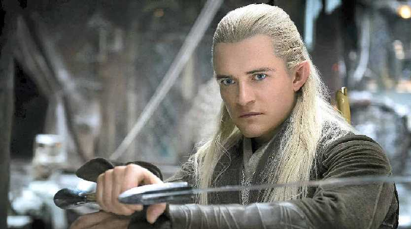 IN THE THICK OF THE ACTION: Orlando Bloom in a scene from the movie The Hobbit: The Desolation of Smaug.