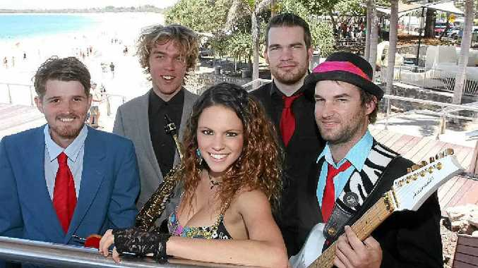 BIG STAGE: Sunshine Coast funk-rock band Soula (from left) Lewis Elliott, Kane Filer, Teila Packman, Nathan Campbell and Ben Hodgson will perform at New Year's Eve Mooloolaba.