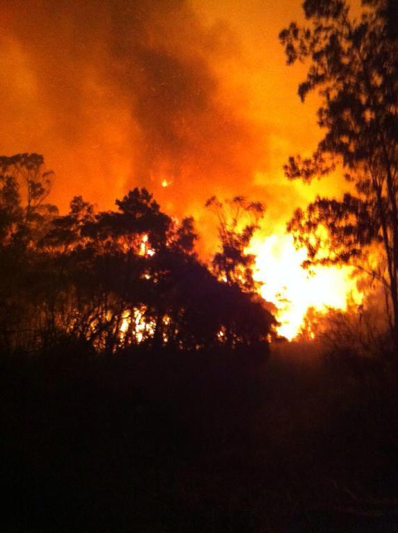 An image of the fire from the NSW Rural Fire Service Facebook page.