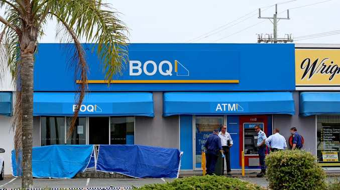 Police investigate the attempted robbery in Tweed Heads South. Photo: Nolan Verheij-full / Daily News