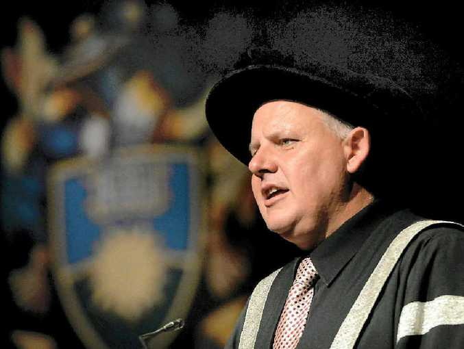 CQU Vice-Chancellor Professor Scott Bowman at a CQ University graduation ceremony.