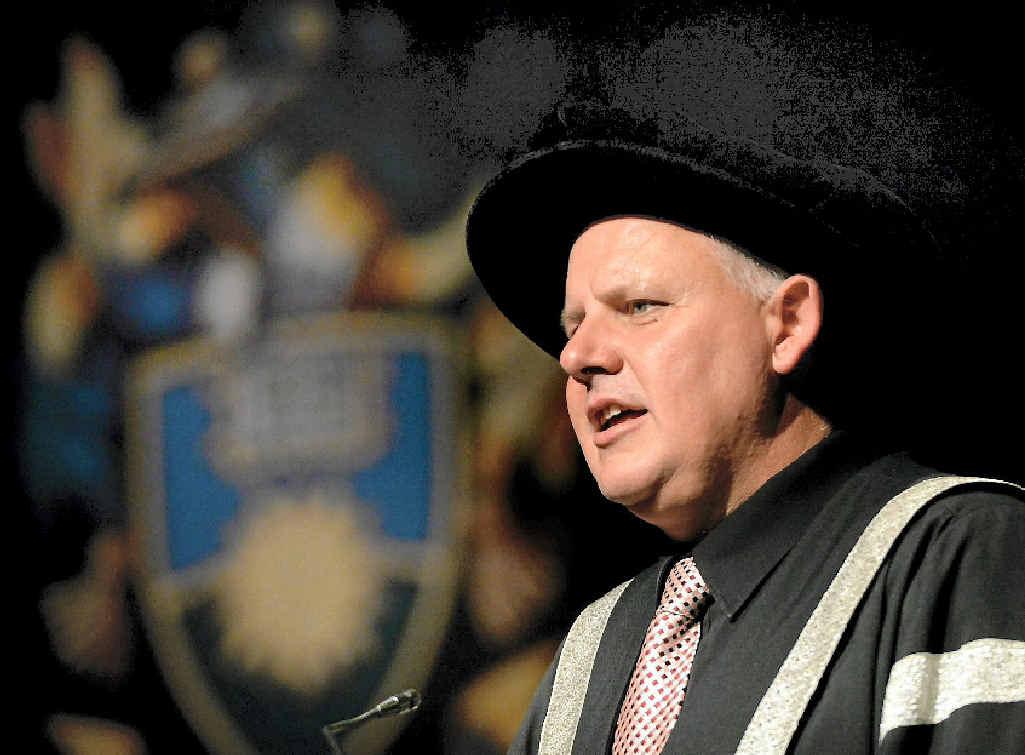CQU Vice-Chancellor Professor Scott Bowman at a CQ University graduation ceremony.