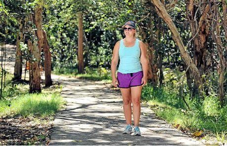 """REALLY UNSETTLING: Amanda Hellyer walks through a traditionally """"family-friendly"""" area near Palkana Dr, Warana Beach."""
