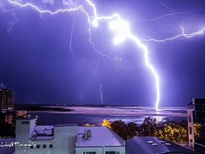 Two taken to hospital after lightning strikes caravan park