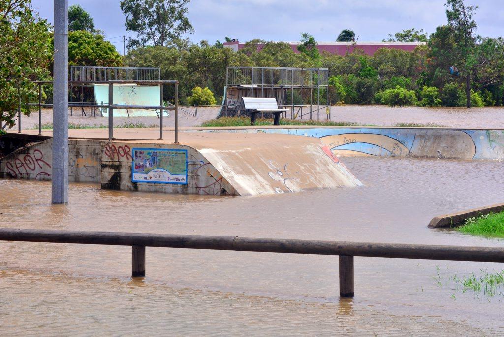 The Bundaberg Skate Park goes under in January.