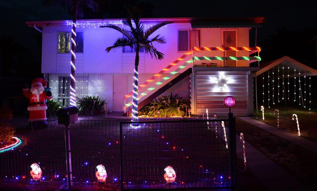 24 Locke St, Kawana - Rockhampton Christmas lights 2013. Photo: Chris Ison / The Morning Bulletin