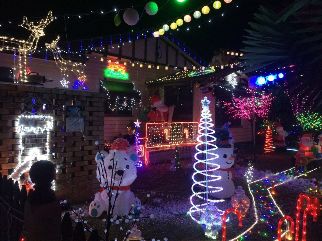Christmas Lights at 205 Kippen St, Mackay. Photo Siid Russell / Daily Mercury