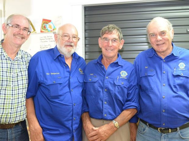 Stephen Upton, Kev Temperton, Jeff Hills and Ray Wilton at the Salvation Army Christmas lunch. Photo Daniel Pelcl / South Burnett Times