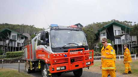 RFS protect the Linneaus Estate north of Lennox Head yesterday.