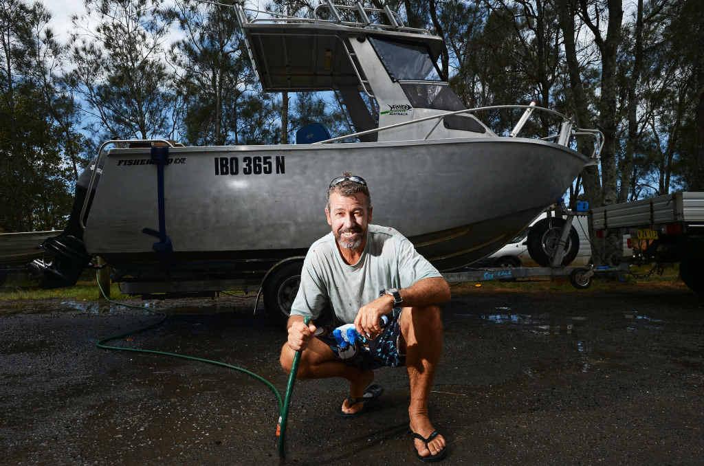 SAFE CROSSING: Lennox Head fisher Glenn Hatchman says dredging is needed.