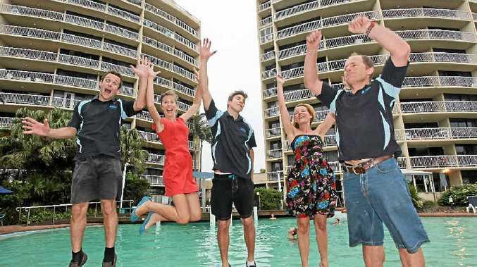 WHAT A FEELING: David Campion, Hannah Campion, Joshua Allgrove, Caroline Harrison and Simon Harrison of Gemini Resort stoked to place fourth in Australia on TripAdvisor.