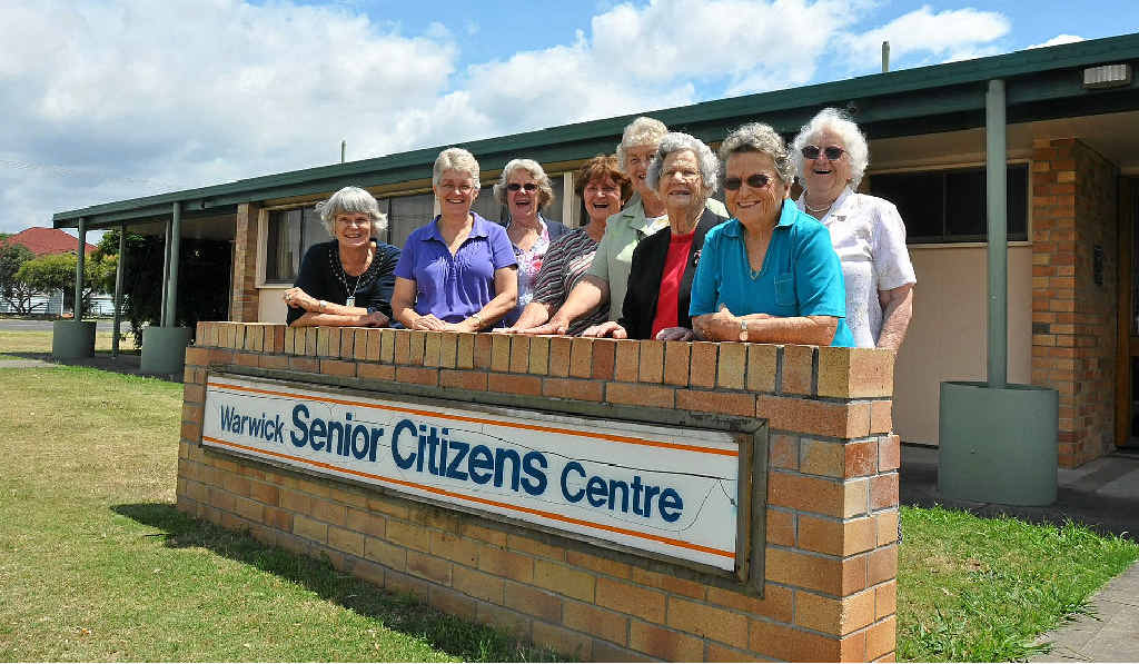 The ladies of the Warwick Senior Citizens Association are pleased to be staying put in their Albert St digs.