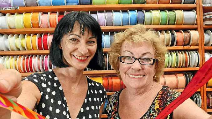Kitty Raso and Sandra Mortensen at Fantazia Fabricland, Tweed Heads South.