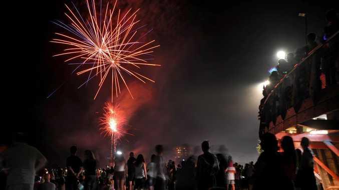 New Year's fireworks at Mooloolaba Beach. Photo: Iain Curry / Sunshine Coast Daily