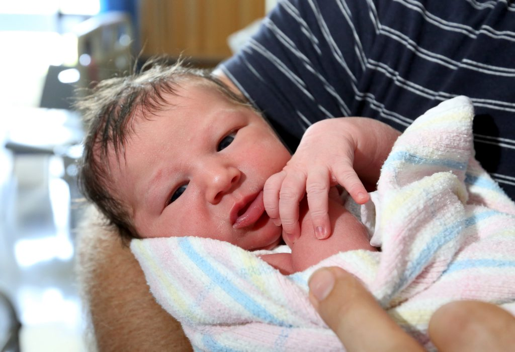 Image for sale: First born baby for the new year at Murwillumbah hospital. Photo: Nolan Verheij-full / Daily News