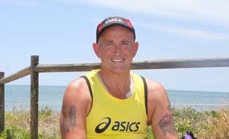 DARE 2 TRI: Mark Urquhart takes a break from training for the Australian triathlon championships in Sydney.