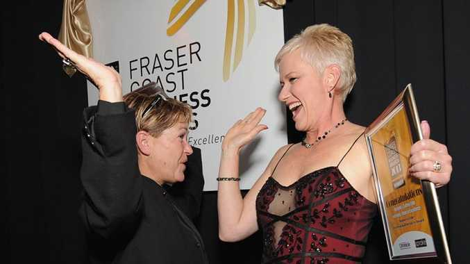 Sprake Fraser Coast Business Awards- Professional Services, sponsored by Telstra Business Centre went to Kelley Nancarrow and Michelle Byrne, Kelly's Nails of Excellence and Michelles' Cutting Edge. Photo: Robyne Cuerel / Fraser Coast Chronicle