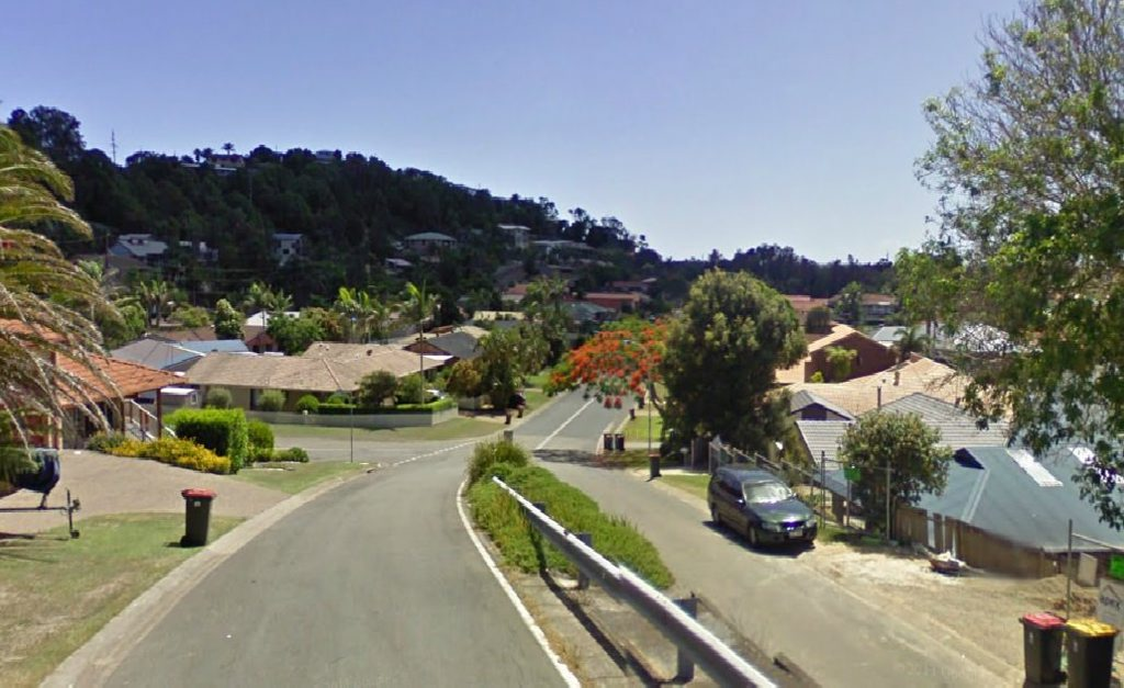 Looking down Old Ferry Rd in Banora Point, where a daylight home invasion occured on Thursday afternoon.