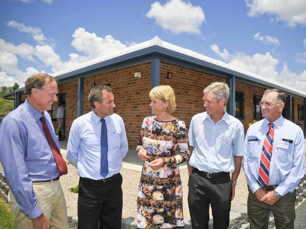 Chair of the state management council Ian Donges, Member for Clarence Chris Gulaptis, Minster for Primary Industries Katrina Hodgkinson, general manager North Coast LHPA Brian McInnes and chair MC LHPA Neil Summerville at the opening of the new LHPA building.