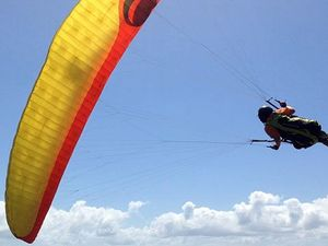 Paraglider's fall ends in injuries and rescue