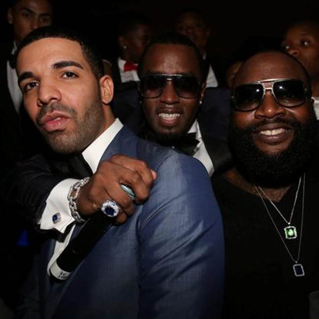 P. Diddy parties with Drake on New Year's Eve
