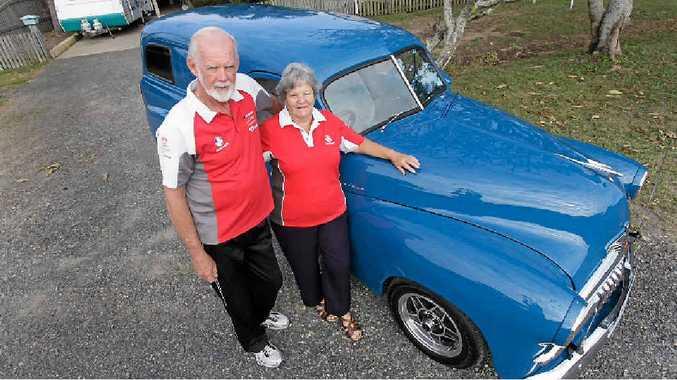 David and Joanne Chambers with their FJ van.
