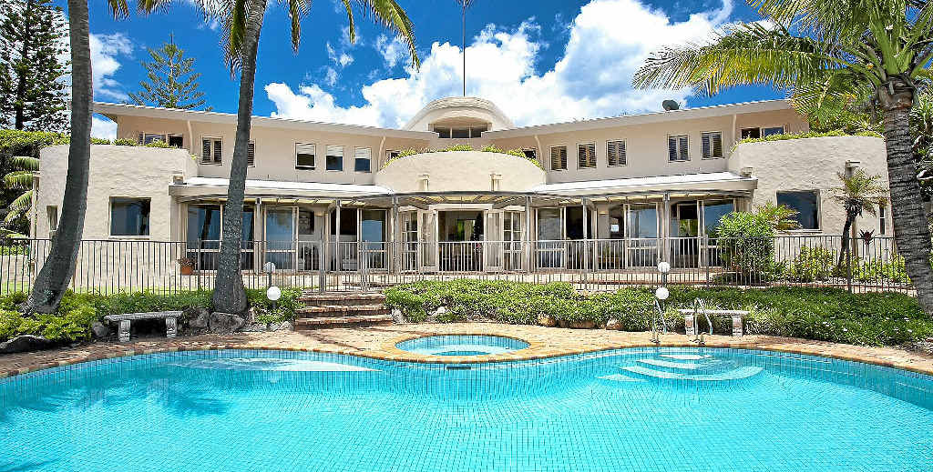 TOP SALE: The most expensive home sold on the Coast last year was Brinbara (above and below), a nine-bedroom mansion with sea views on nearly 4000sq m in Sunshine Beach.