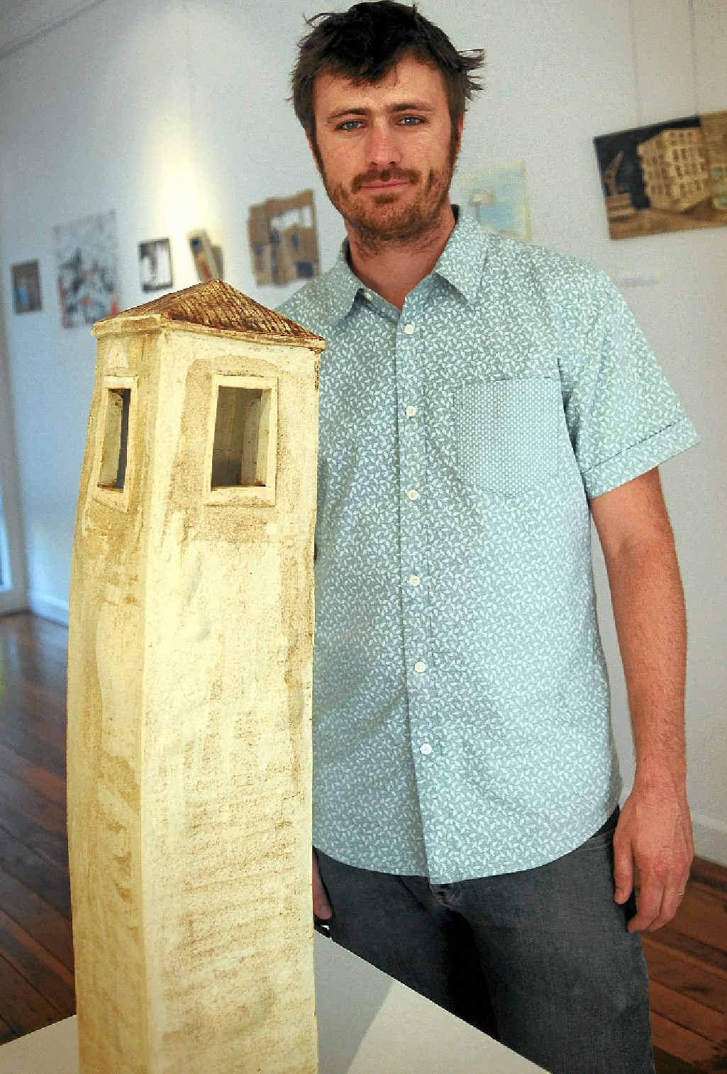 GRAND OPENING: Tim Fry opens his exhibition Habitat at Blockwork Gallery.