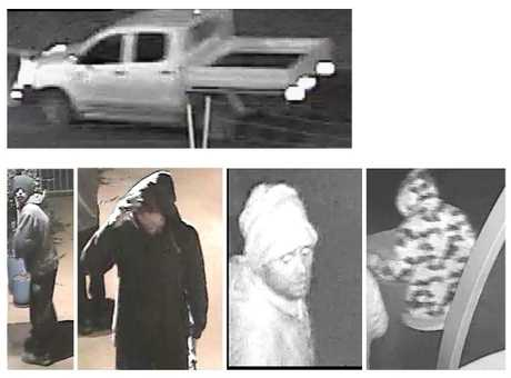 CCTV images of the men who broke into Highfields Landscape Supplies.