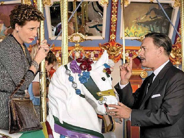 ALL-STAR CAST: Emma Thompson as PL Travers and Tom Hanks as Walt Disney in Saving Mr Banks.