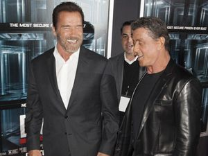 Stallone, Schwarzenegger and Willis all have big ... egos