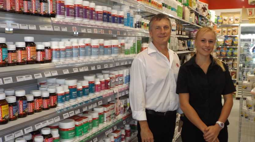 Go Vita owner Michael McGeorge with his daughter Brittney McGeorge, now has a store in Maryborough as well as Hervey Bay.